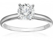 76% off 14k White Gold Diamond Solitaire Engagement Ring (1 cttw)