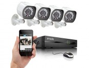 $190 off Zmodo SPoE Security System w/ 4 x 720p IP Cameras