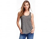 77% off Old Navy Relaxed Curve Hem Linen Tank For Women