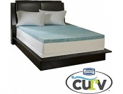 80% off Simmons Curv Gel Memory Foam Mattress Topper - King