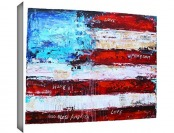 "97% off Jolina Anthony 'America' Gallery Wrapped Canvas, 36""x48"""