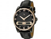 95% off Lucien Piccard Men's 'Bosphorus' Leather Watch