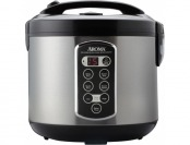 53% off AROMA 20-Cup Rice Cooker, Stainless With Black Handle