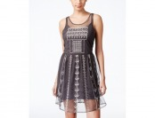 80% off Jessica Simpson Juniors' Hazel Sheer Embellished Dress