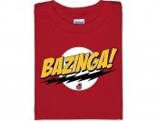 50% off Bazinga! T-Shirt - Red, L