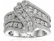 70% off Classic Twist with White Diamond Sterling Silver Ring