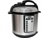 38% off Bella 6-Quart Pressure Cooker - Black/Silver