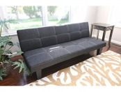 98% off Home Life Andrew Grey Linen Klik Klak Sofa Futon Bed