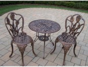 79% off Tulip 3-Piece Cast Aluminum Patio Bistro Set