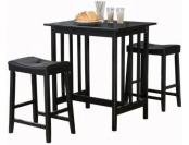 87% off Homelegance 5310BK-MTL 3-Piece Counter Table and Stools