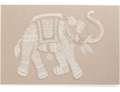 75% off Made In India 45x30 Embroidered Elephant Wall Art