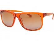 86% off Calvin Klein Rectangle Translucent Orange Sunglasses