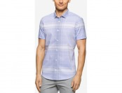 79% off Calvin Klein Men's Big & Tall Dobby-Twill Short-Sleeve Shirt