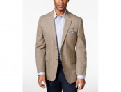 88% off Tasso Elba Men's Khaki Houndstooth Classic-Fit Sport Coat