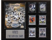 78% off NFL New England Patriots 3 Time Super Bowl Champs Plaque