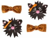 82% off Thrills Chills Pet Halloween Black Cat Hair Bows