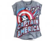 76% off Captain America Logo Sleeveless Tee for Girls