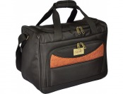 "60% off Caribbean Joe 16"" Black Weekender Bag-Luggage"