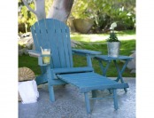75% off Coral Coast Big Daddy Adirondack Chair with Ottoman