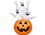 49% off Gemmy Airblown Inflatable 6' X 4' Ghost Trio Decoration