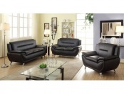 63% off Norton 3 pc Faux Leather Modern Living Room Sofa Set
