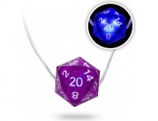 75% off Critical Hit D20 LED Necklace