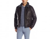 69% off Dockers Men's Rugged Cow Leather Look Aviator Bomber