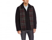71% off Dockers Men's Wool Melton Laydown Collar Shortie Scarf Coat
