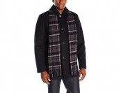 72% off Dockers Men's Washable Wool Blend Walking Coat with Scarf