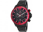 $700 off Lancaster Italy Hurricane Chronograph Black IP SS Watch