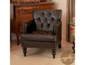 73% off Home Decor Malone Brown Leather Club Chair
