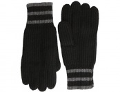 69% off Williams Cashmere Men's 4 Ply Gloves with Stripe