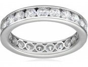65% off Sterling Silver Swarovski 2 cttw Channel Set All-Around Ring