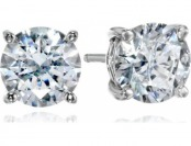 70% off Sterling Silver Swarovski Zirconia 3 cttw Round Stud Earrings