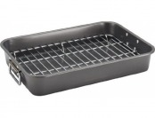 "60% off Farberware Nonstick 11"" x 15"" Roaster with Flat Rack"
