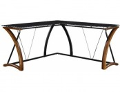55% off Whalen Furniture Newport Wood/Glass L-Shaped Desk