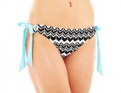 86% off a.n.a Zigzag Print Side-Tie Hipster Swim Bottoms