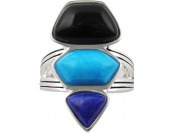 78% off Art Smith Blue Howlite Silver Over Brass Ring
