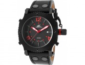 91% off Adee Kaye Men's Leather IP SS Watch