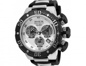 93% off Invicta 21640 Reserve Chrono Black Silicone SS Watch