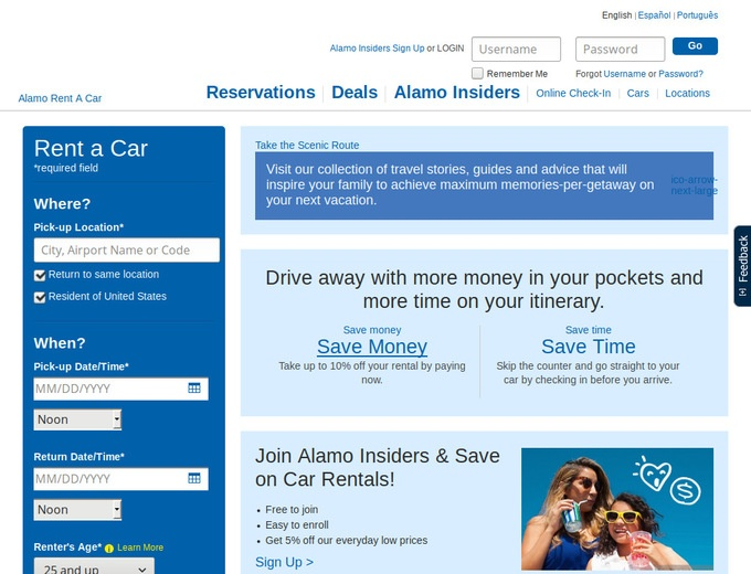 Online coupons for alamo rental cars