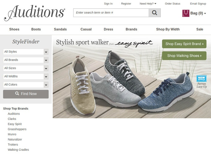 Auditions is a small shoe retailer which operates the website tongueofangels.tk of today, we have 2 active Auditions third-party deals. The Dealspotr community last updated this page on December 2, On average, we launch 7 new Auditions promo codes or coupons each month, with an average discount of 25% off and an average time to expiration of 13 days.