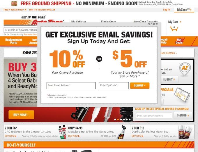 AutoZone Coupons & AutoZone com Promotional Codes