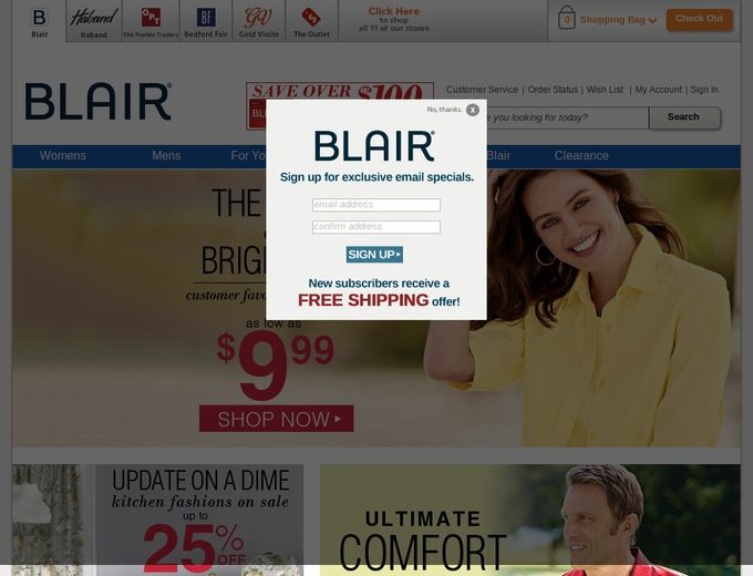 Blair com coupon codes
