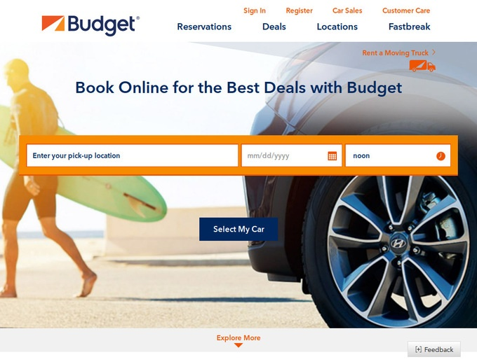 budget rental car customer service