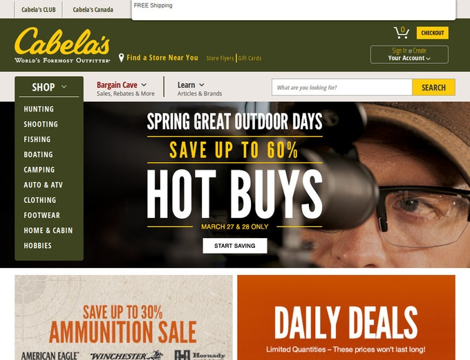 Cabelas coupons discounts
