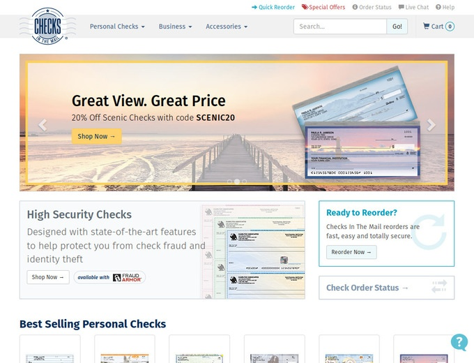 Checks in the Mail Coupon Codes All Active Checks in the Mail Coupons & Coupon Codes - Up To 30% off in December If you are looking to purchase custom personal or business checks, Checks in the Mail is your trusted partner.