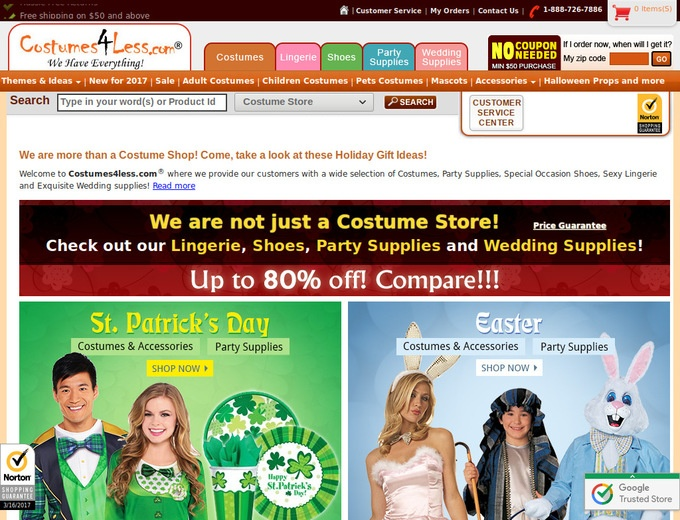 Coupon costumes4less