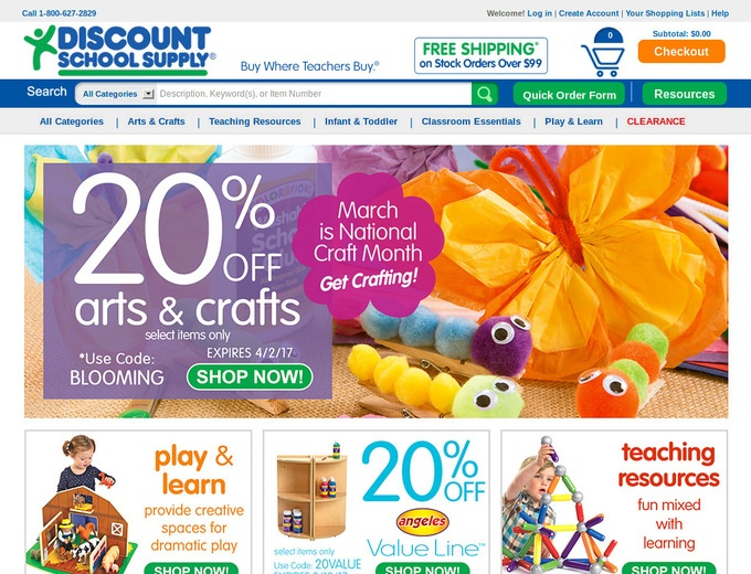 Discount school supply online coupon