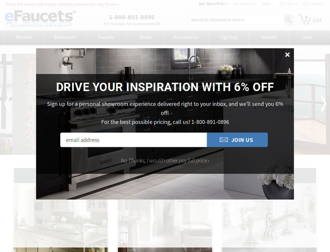 Efaucets coupon code